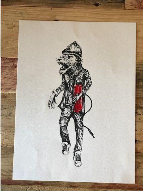 Abeil - Lion pompier