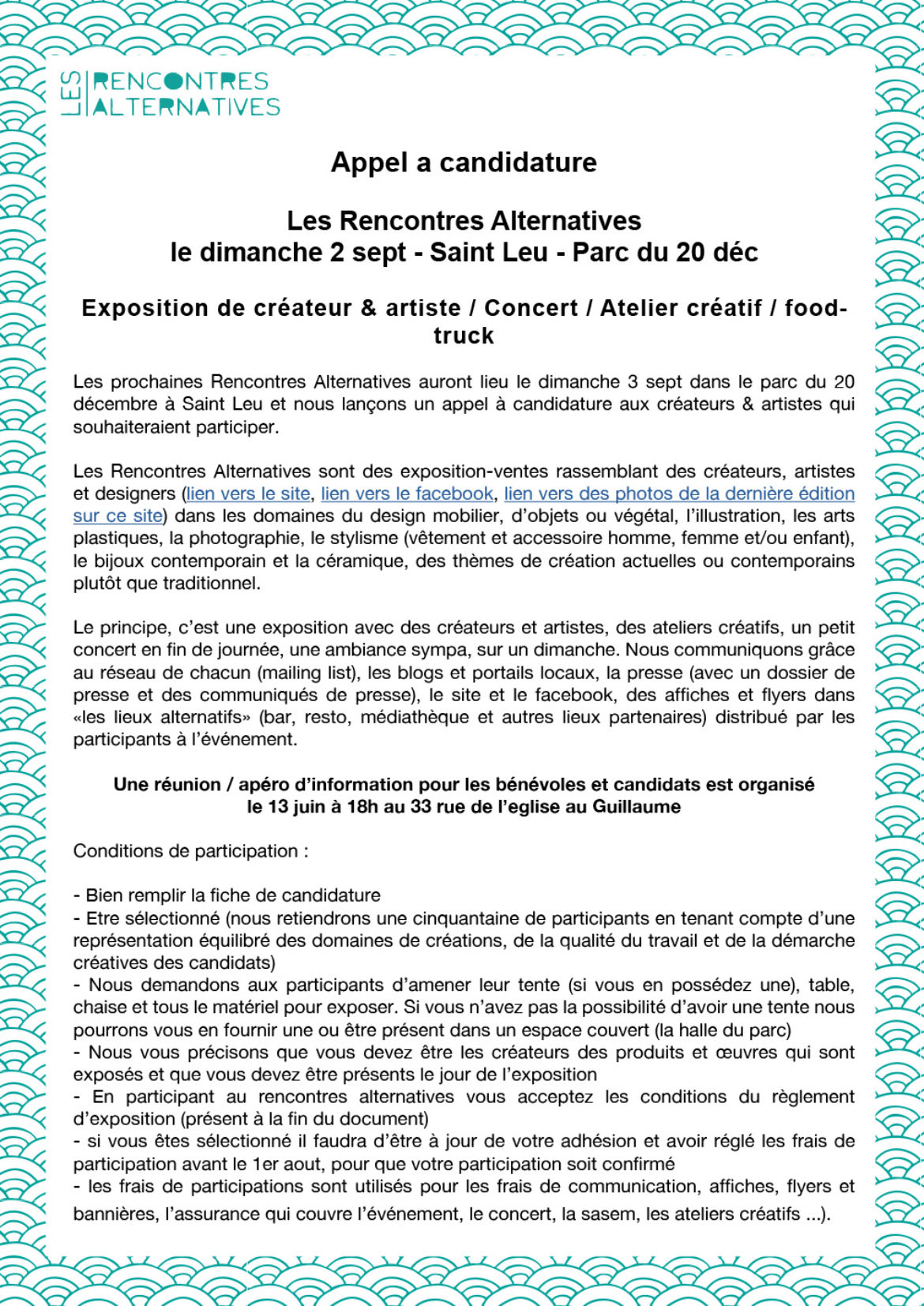 Rencontres alternatives 2018